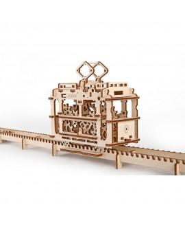"Wooden 3D puzzle ""Tram with rails"""