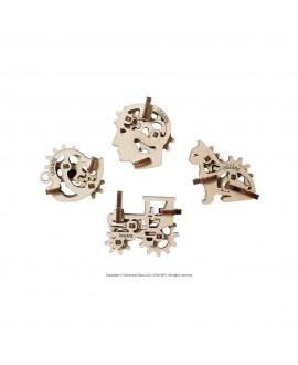 """Wooden 3D puzzle """"U-Fidgets-Tribiks"""""""