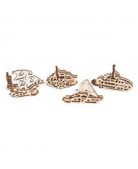 """Wooden 3D puzzle """"Fidgets-Ships"""""""