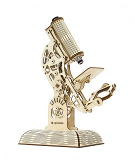 """Wooden 3D puzzle """"Microscope"""""""