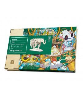 """Wooden 3D puzzle """"Elephant"""""""