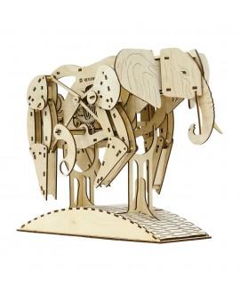 """Дерев'яний 3D пазл """"Слон"""""""