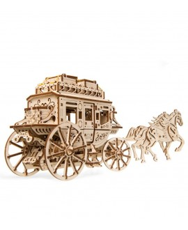 """Wooden 3D puzzle """"Postal stagecoach"""""""