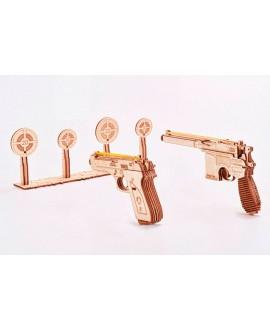 """Wooden 3D puzzle """"Gun set"""""""