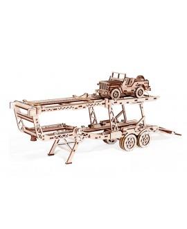 """Wooden 3D puzzle """"Car carrier trailer"""""""