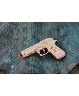 """Дерев'яний 3D пазл """"Пістолет"""""""