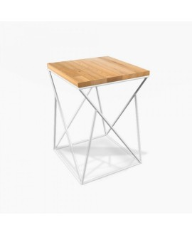Bar stool TWIST White