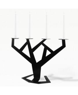 Metal candlestick black TREE