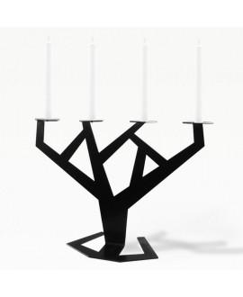 Metal candlestick black TREE