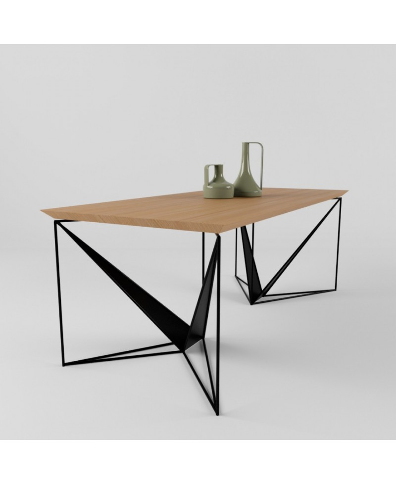 Slim And Elegant ORIGAMI Dining Table Combines In Its Design The Simplicity  Of Lines And Shapes.