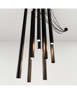 Дизайнерська люстра TUBE black 8