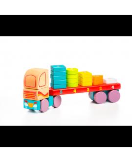 """Іграшка """"Вантажівка з геометричними фігурами"""" LM-13"""