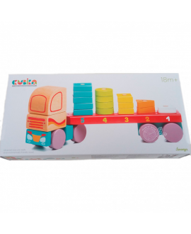 "Toy ""Truck with geometric shapes"" LM-13"