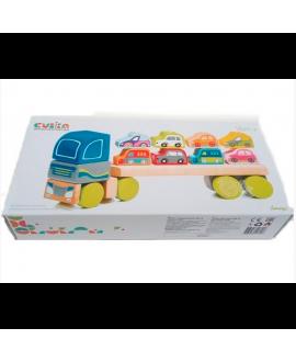 """Іграшка """"Вантажівка з автомобілями"""" LM-12"""