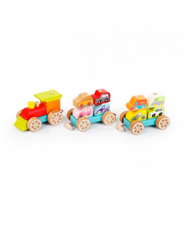 "Wooden toy ""Train with cars"""