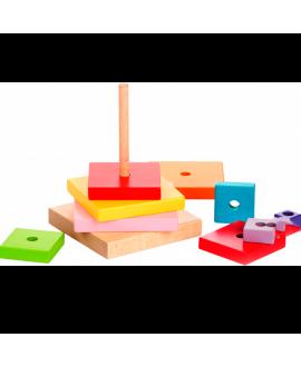 """Деревянная игрушка """"Пирамидка"""" LD-5"""