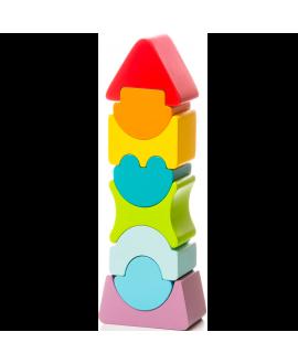 """Деревянная игрушка """"Пирамидка"""" LD-8"""