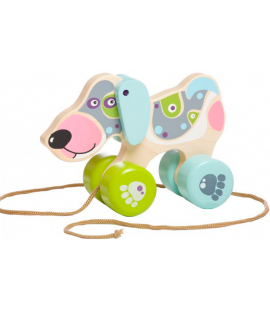 "Wooden toy ""Happy puppy"" (push & pull)"