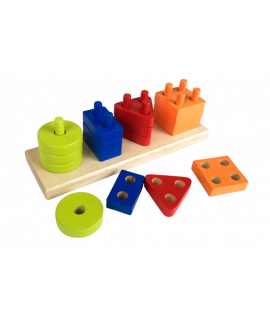 "Wooden toy ""Geometric sorter rectangle"""