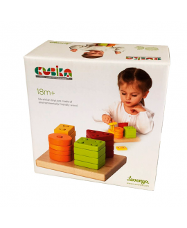 "Wooden toy ""Geometric sorter square"""