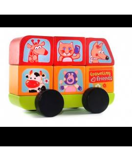 """Іграшка автобус """"Веселі звірі"""" LM-10"""
