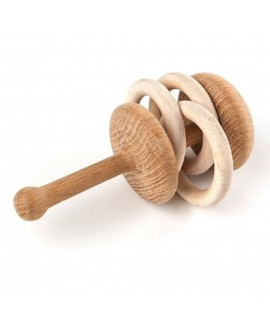 "Wooden baby rattle ""Rumble"""