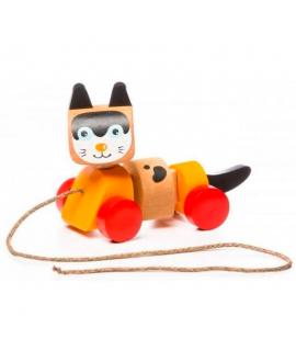 """Деревянная игрушка """"Котик каталка"""""""
