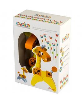 "Wooden toy ""Giraffe acrobat"""