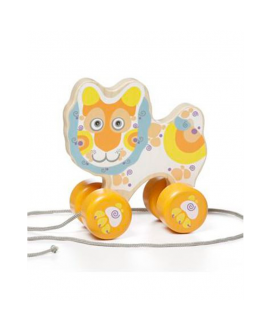 "Wooden toy ""Happy Lion"" (push & pull) LK-2"
