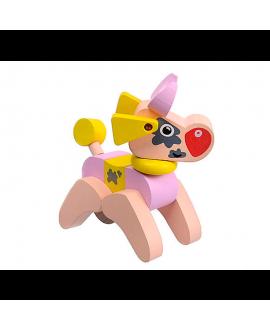 """Дерев'яна іграшка """"Коровка акробат"""" LA-4"""