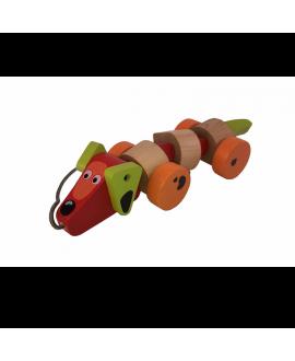 """Дерев'яна іграшка-каталка """"Такса"""""""