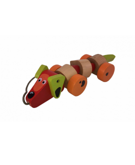 "Wooden toy ""Happy Dachshund"""