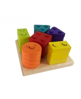 "Wooden Toy ""Sorter Geometric figures"""