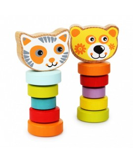 """Набір деревяних іграшок """"Гнучкі тварини"""""""