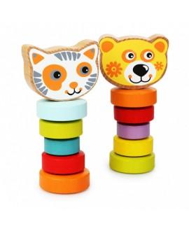 """Набор деревянных игрушек """"Гибкие животные"""""""