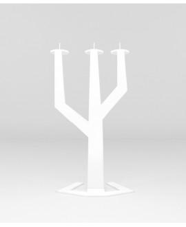 Metal candlestick white CACTUS