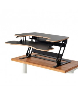 Office desk SOLID BLACK HPL