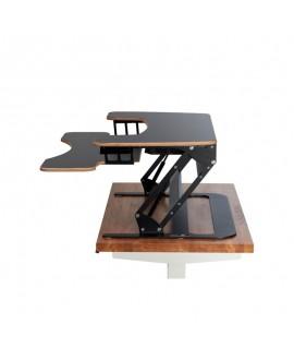 Office desk SOLID BLACK HPL