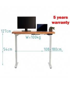 Table with electric regulation
