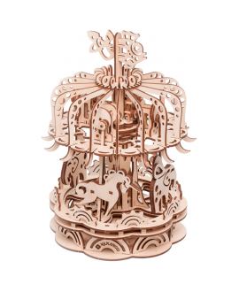 "Wooden 3D puzzle ""Carousel-2"""