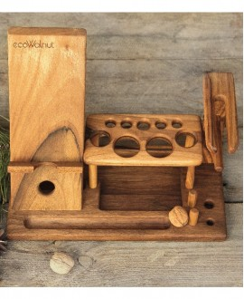 Дерев'яний органайзер для косметики
