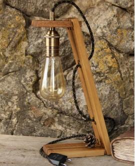 """Дерев'яна лампа """"Едісона"""""""