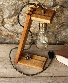 "Wooden lamp ""Edison"""