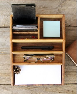 "Wooden organizer ""Stationery set"""