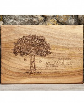 Rectangular walnut board