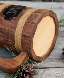 Деревянный пивной бокал конусный
