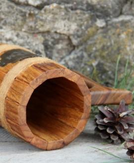 Деревянный пивной бокал цилиндрический
