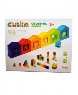"Wooden constructor ""Colored houses"""