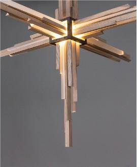 Wooden chandelier ACRUX