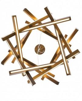 Wooden chandelier Torus MAXI